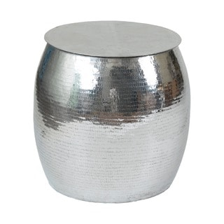 Aurora Silver Round Side Table
