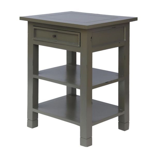 Defiance Grey Square Side Table