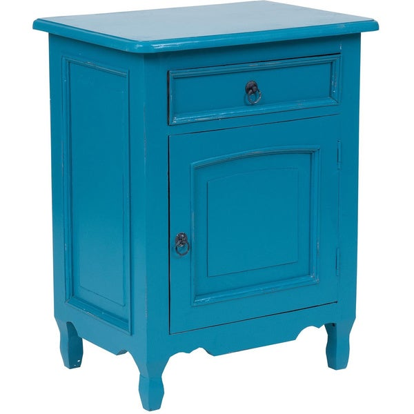 Delaware Blue Square Side Table