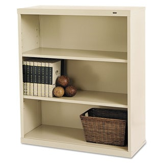 Tennsco Putty Three-shelf Metal Bookcase