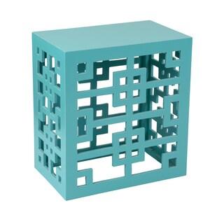 Fairborn Blue Square End Table