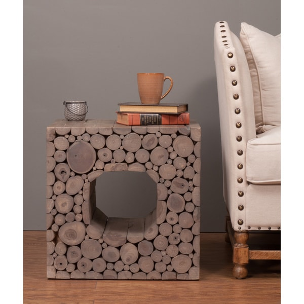 Hamilton Brown Square Side Table