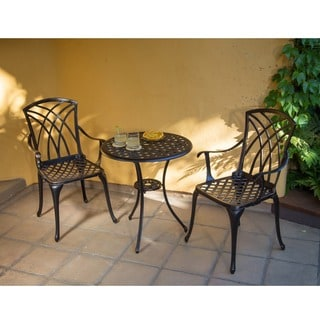 Corvus Virginia Heavy Duty Aluminum 3--piece Bistro Set