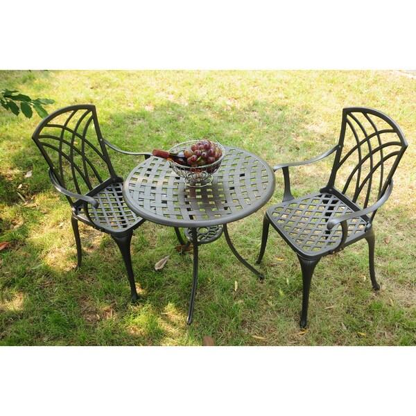 Outdoor Patio Furniture Virginia: Corvus Virginia Heavy Duty Aluminum 3--piece Bistro Set