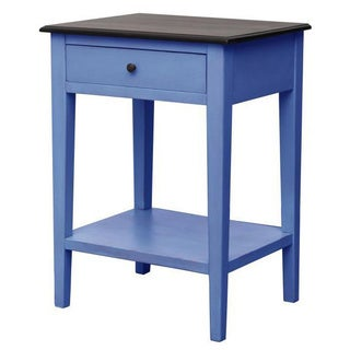 Kenton Blue Square Side Table