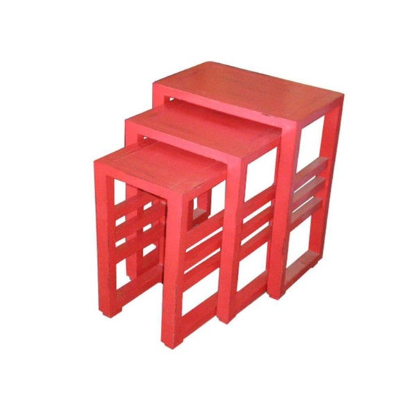 Brookhaven Red Square Table Set