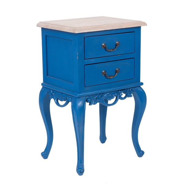 Carthage Blue Square Accent Table