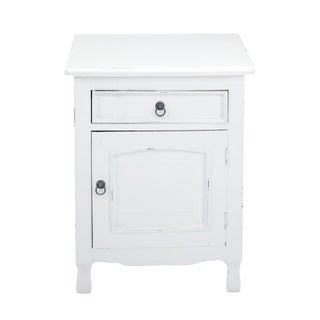 Corinth White Square Side Table