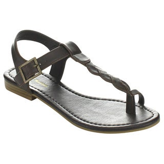 Mark & Maddux ZIV-01 Women's Open Toe Flat Sandals
