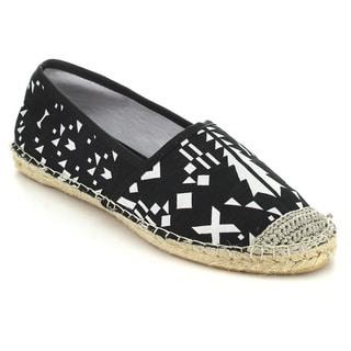 C Label ADLER-1 Women's Comfort Slip On Espadrille Flats