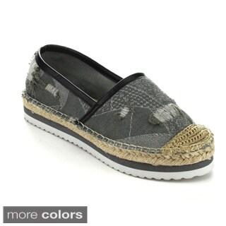 C Label ATAMI-2 Women's Comfort Slip On Espadrille Flats
