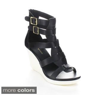 Mark & Maddux ANGELO-01 Women's Open Toe Strappy Wedges