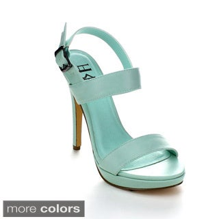 Fahrenheit NINA-02 Women's Open Toe Chic Slingback Stiletto Heels