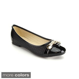 Via Pinky GINNY-01 Women's Chic Hollow Out Style Ballet Flats