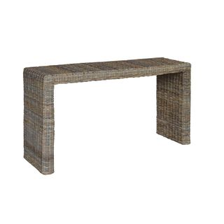 Altha Brown Rectangle Console Table