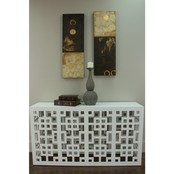 Clermont White Rectangle Console Table