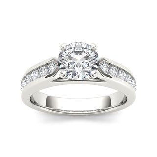 De Couer 14k White Gold 1 1/4ct TDW Diamond Exquisite Engagement Ring (H-I, I2)