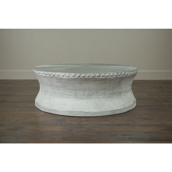 Hazlehurst off white round coffee table 17269452 for Off white round table
