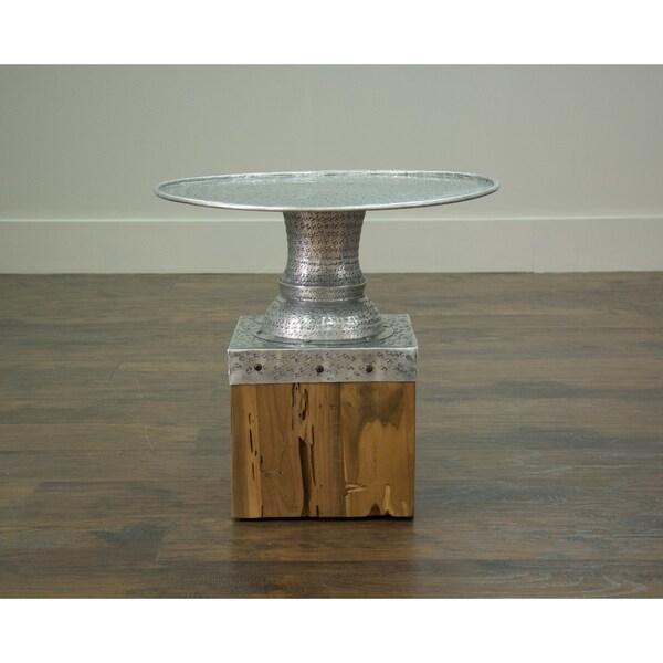 Hernando Grey Round Side Table