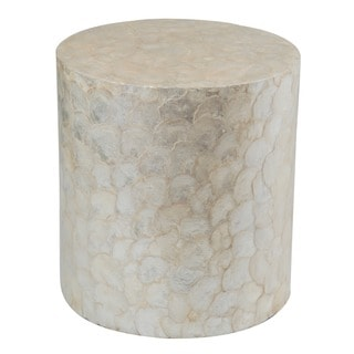 Houston White Round End Table