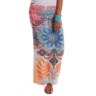 Hadari Women's Contemporary Floral Maxi Skirt