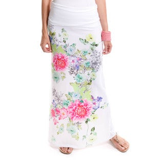 Hadari Women's Daisy Floral Skirt