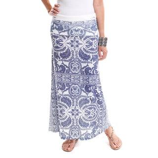 Hadari Women's Brocade Maxi Skirt