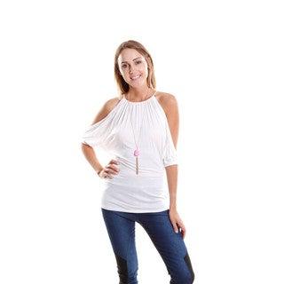 Hadari Women's Cold Shoulder Halter Top