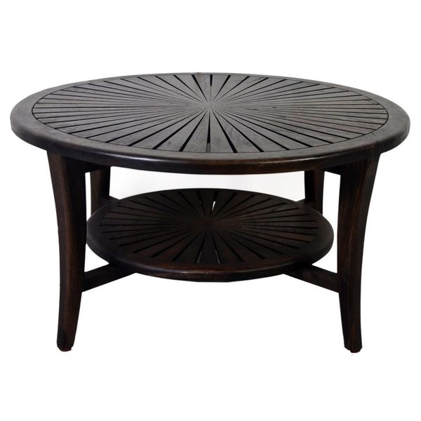 Liberal Casual Brown Round Coffee Table
