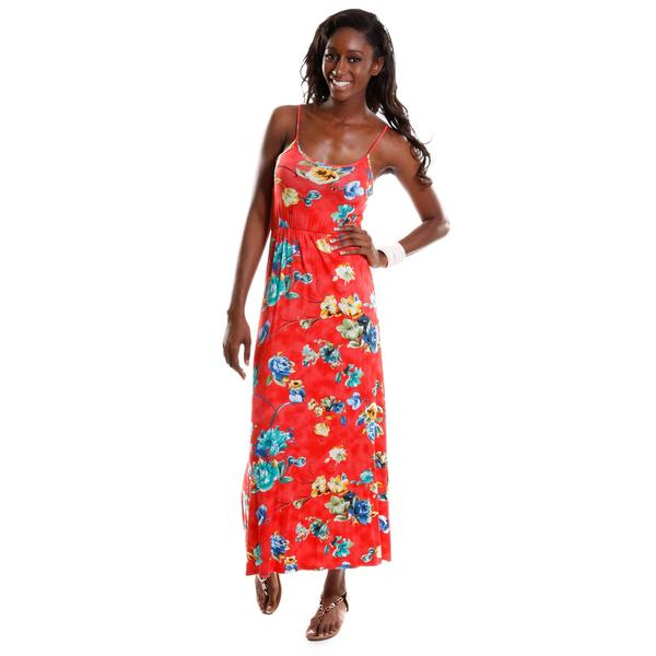 Hadari Women's Floral Maxi Dress