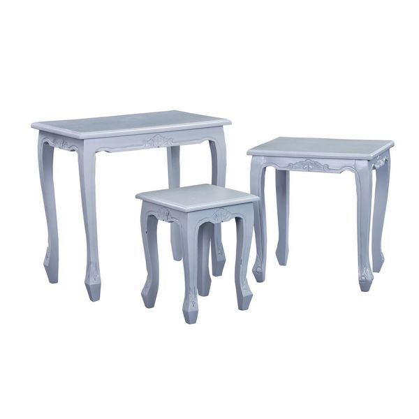Hays Casual Grey Square Nesting Table