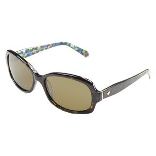 Kate Spade Women's Darya/P/S Plastic Rectangular Sunglasses