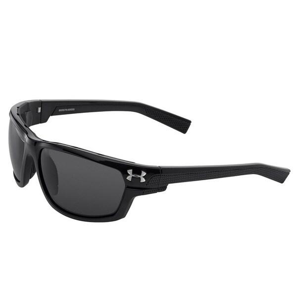 Under Armour Hook'd Satin Black Sunglasses