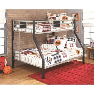 Signature Design By Ashley Dinsmore Black and Grey Twin/Full Bunk Bed