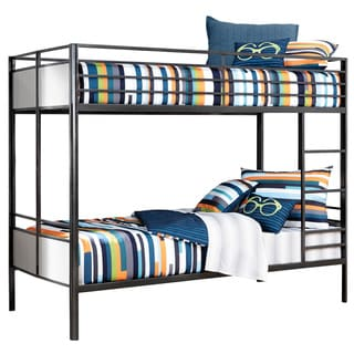 Signature Design By Ashley Notelly Gray Twin Metal Bunk Bed