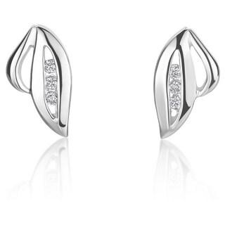 SummerRose 14k White Gold Diamond Accent Fashion Motif Earrings