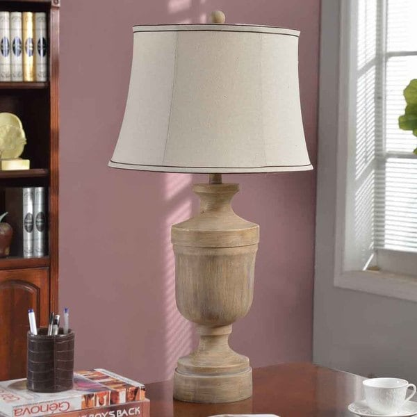 Creek Classics 31in Table lamp, Wood Texture Finish