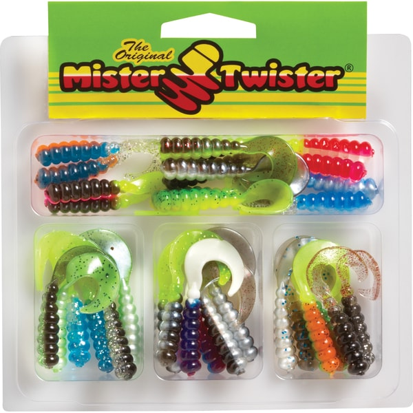 Mister Twister Tri-Alive 2in Curly Tail Kit 32 Assorted