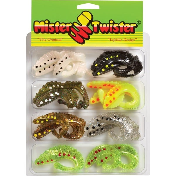 Mister Twister 2in 3in and 4in Spotted G-Grub Kit 21 Assorted