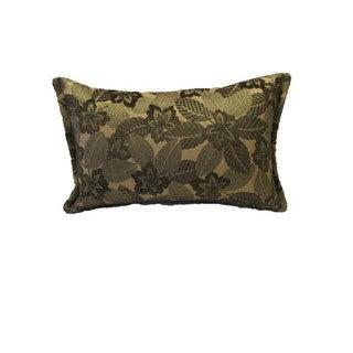 Corona Decor Green Mosaic Leaf Pattern Rectangular Decorative Pillow