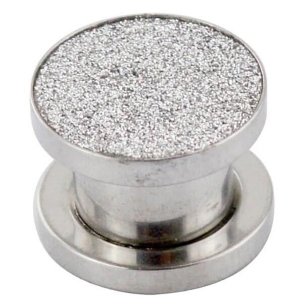 Supreme Jewelry Silver Sugar Glitter Plug Pair