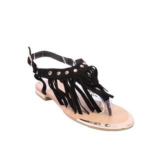 Coshare Forever Women's Tyler-27 Tassle Design Flat Sandals