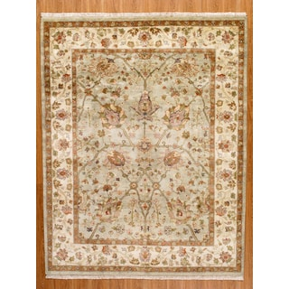 """One of a Kind Indian Hand-Knotted Rug 8'x10'3"""""""