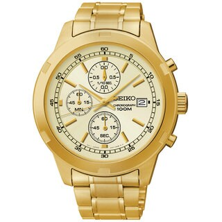 Seiko SKS426 Men's Goldtone Stainless Steel Chronograph Watch