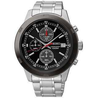 Seiko SKS427 Men's Stainless Steel Chronograph Black Dial Watch