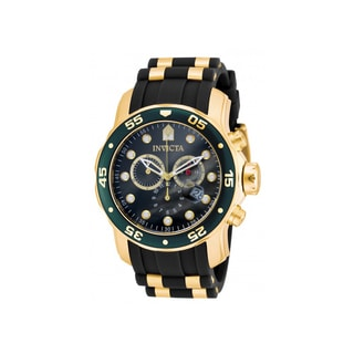 Invicta Pro Diver Chronograph Green Black Polyurethane Mens Watch 17886
