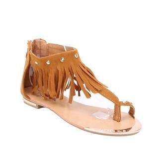 Coshare Forever Women's Tyler-28 Tassle Design Flat Sandals
