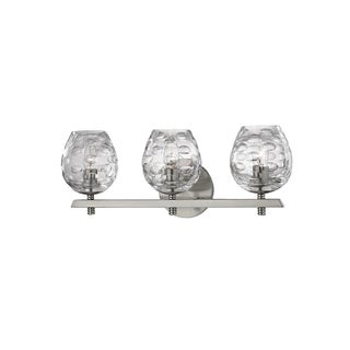 Hudson Valley Burns 3-light Satin Nickel Vanity with Clear Shade