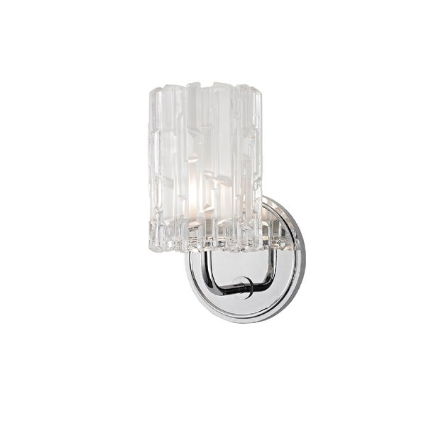 Hudson Valley Dexter 1-light Chrome Vanity with Clear Shade