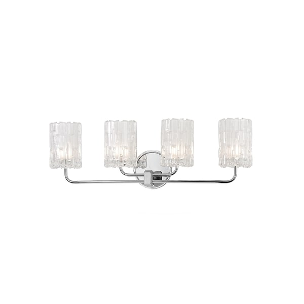 Hudson Valley Dexter 4-light Chrome Vanity with Clear Shade